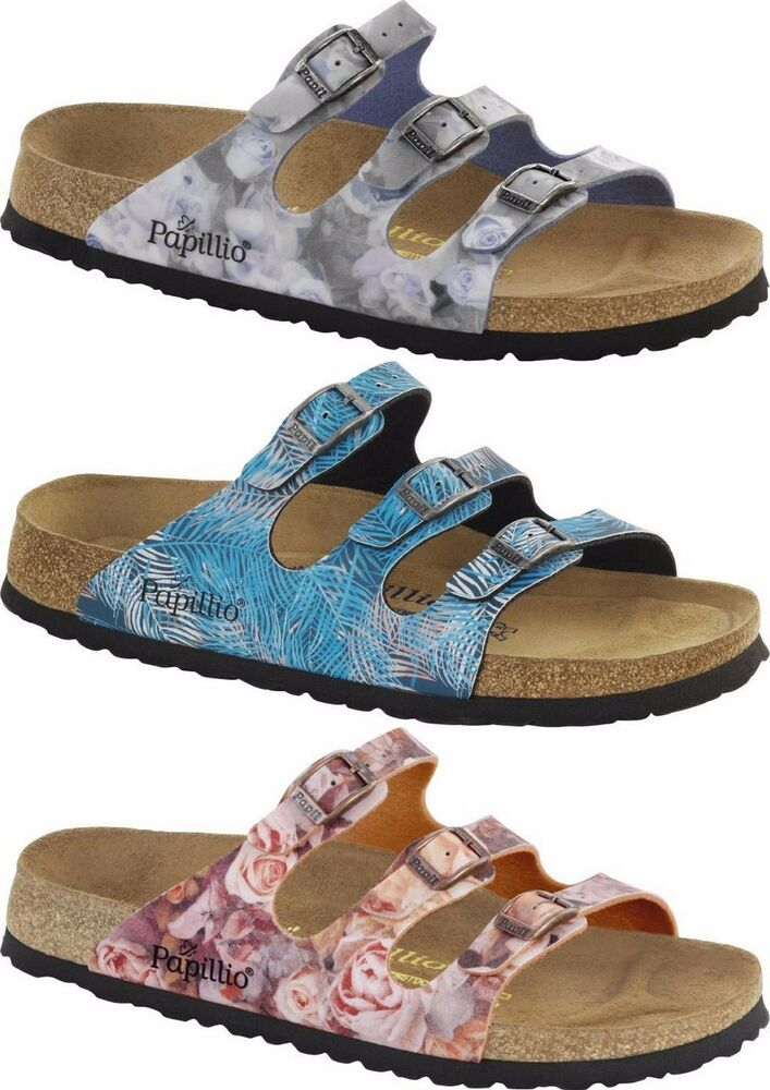 birkenstock papillio florida red blue rose sandals flip flops women 39 s buckle ebay. Black Bedroom Furniture Sets. Home Design Ideas