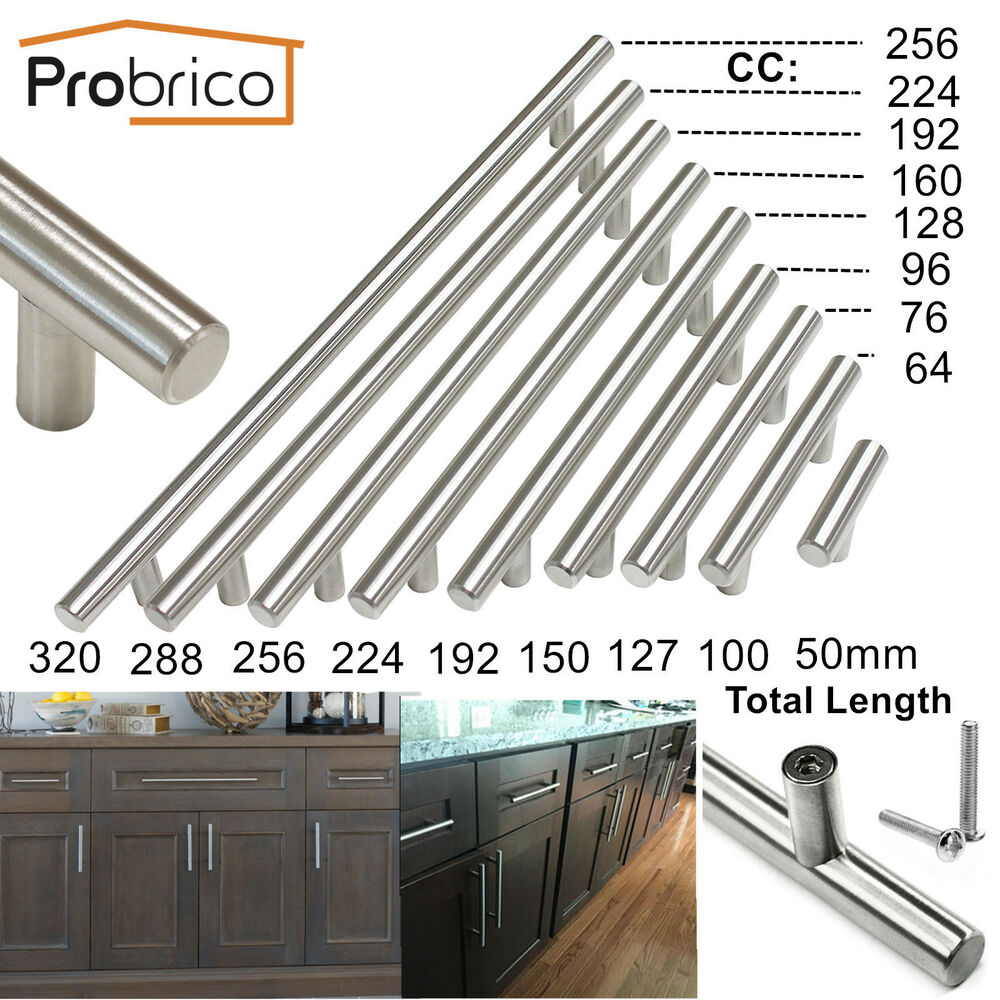 Stainless Steel Kitchen Cabinet Knobs Uk: New Stainless Steel T Bar Kitchen Cabinet Door Pull