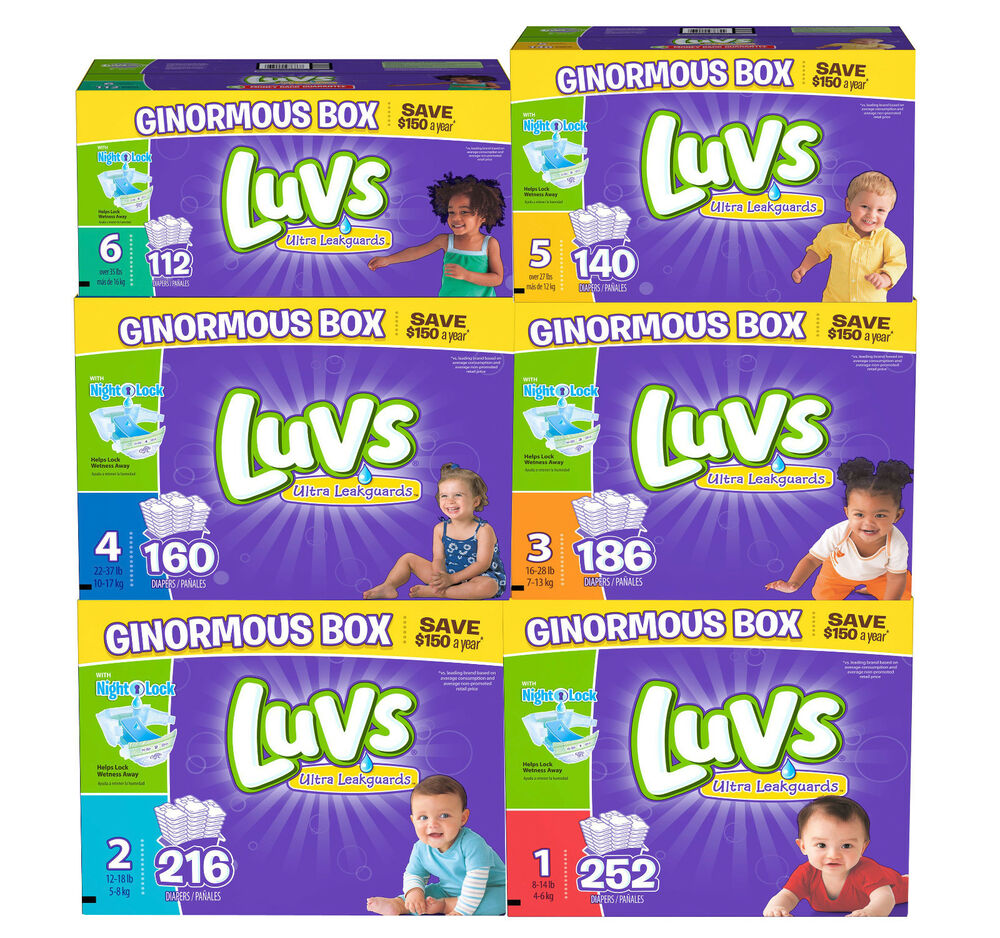 Luvs Ultra Leakguard Disposable Baby Diapers Choose From