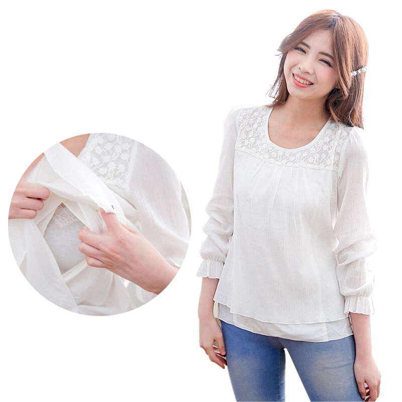 Maternity Clothes Breastfeeding shirts For Pregnant Women ...