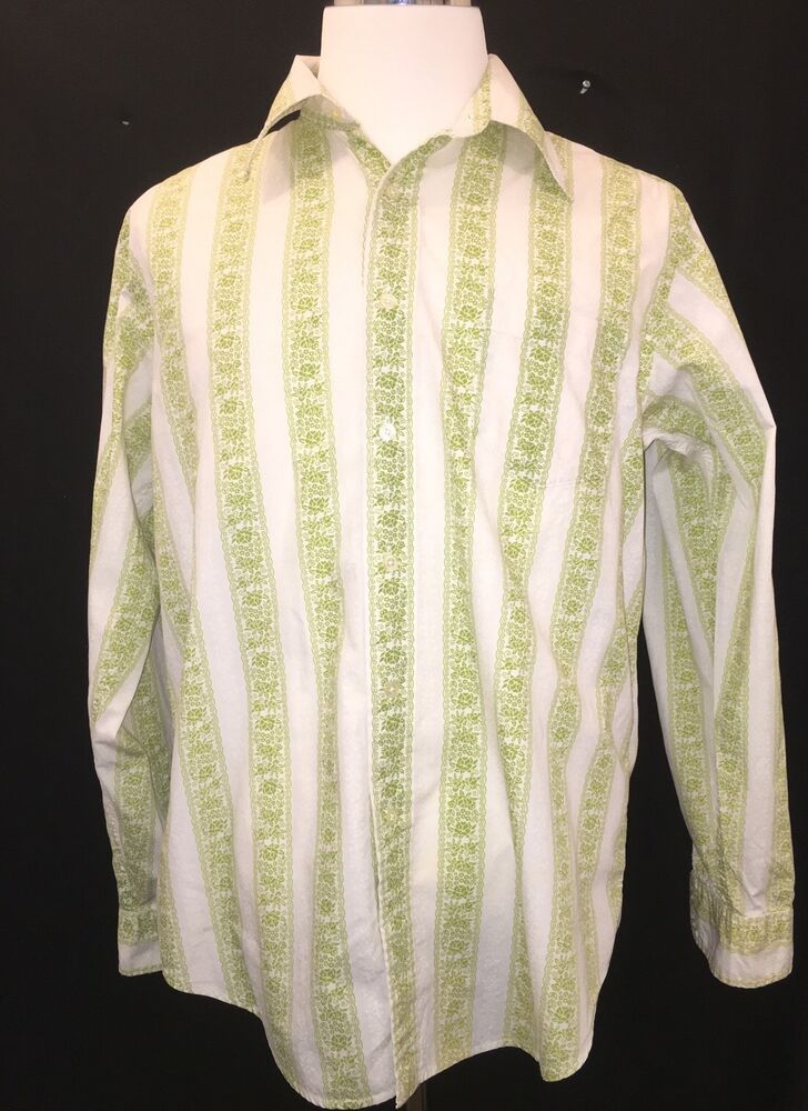 Lucky Brand Men S Vintage Style Button Front Shirt Green