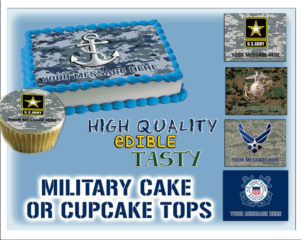 Navy Edible Cake Decorations
