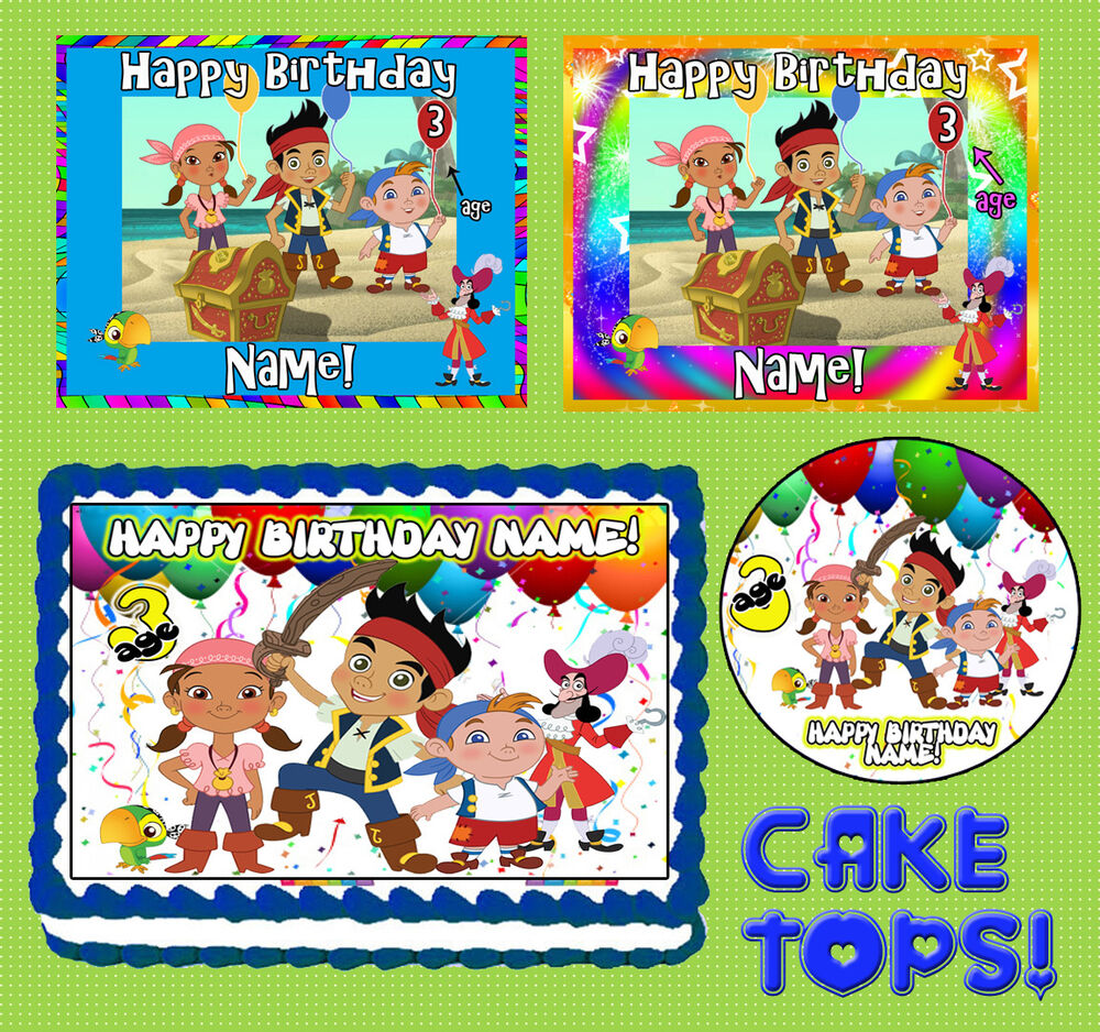 Jake And The Neverland Pirates Edible Cake Topper
