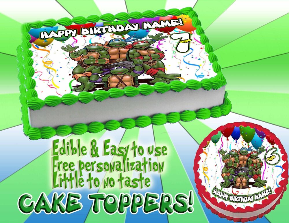 Teenage Mutant Ninja Turtle Birthday Cake Toppers