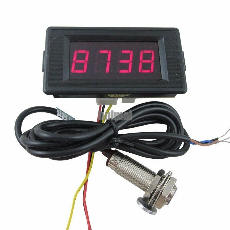 Digital Counters With Sensors : Dc v digital red led counter meter up down hall