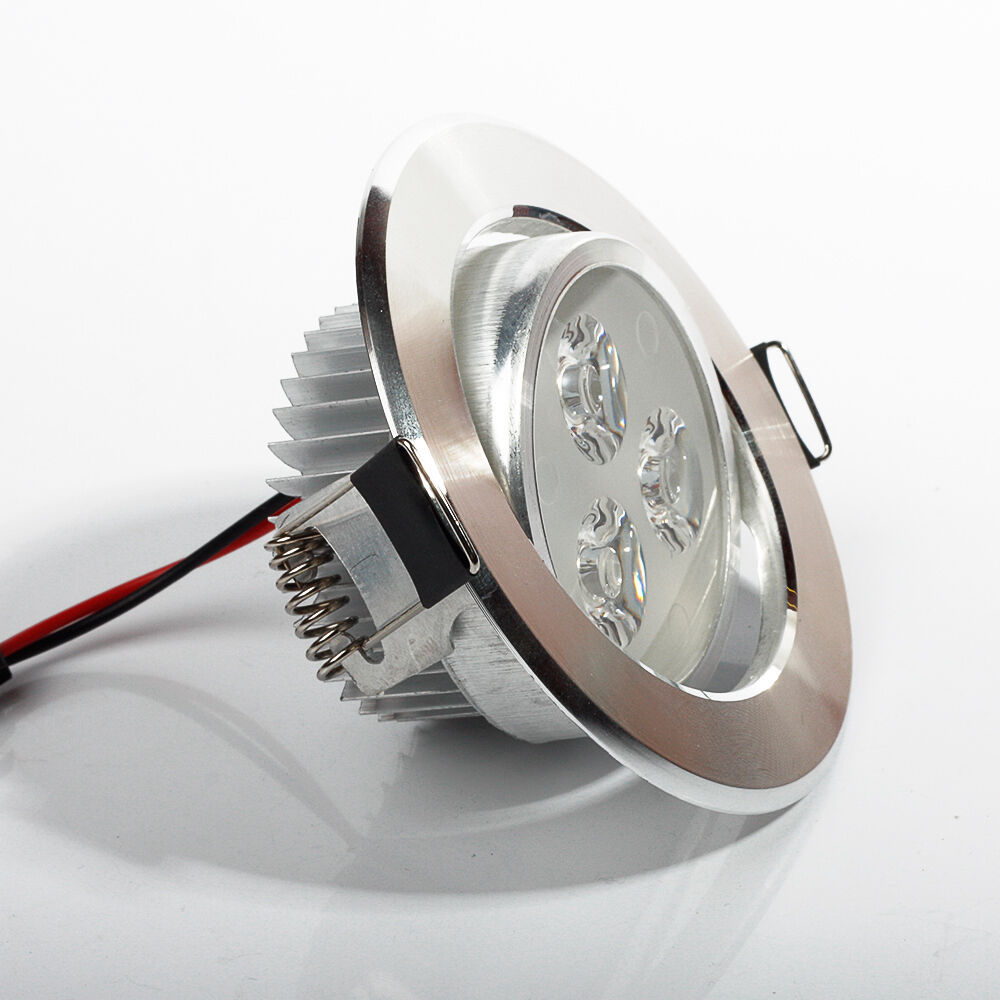 3W 5W 7W LED Recessed Ceiling Panel Downlight Fixture Lamp