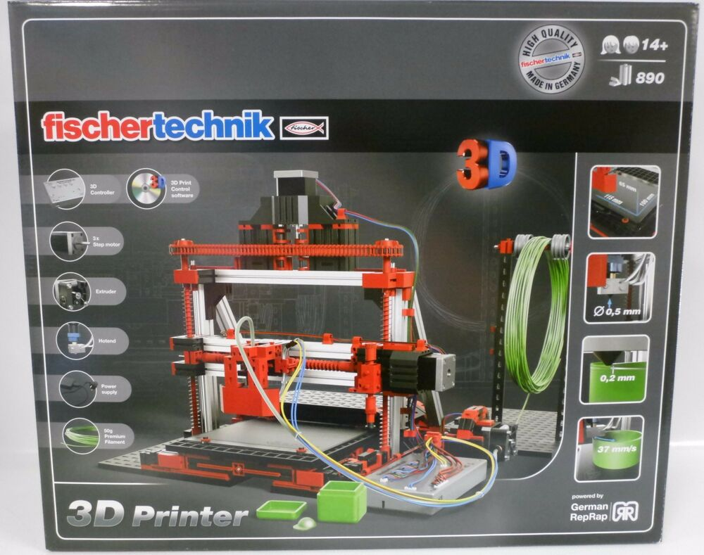 neu fischertechnik 536624 3d printer drucker 8 x 50 g filament ovp ebay. Black Bedroom Furniture Sets. Home Design Ideas