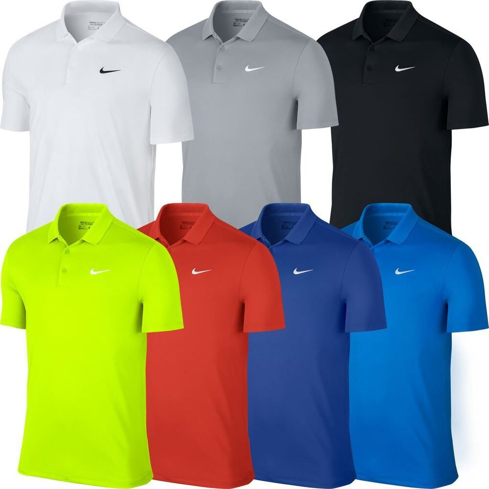 Nike 2016 victory solid logo chest mens golf polo shirt ebay for Big tall nike golf shirts