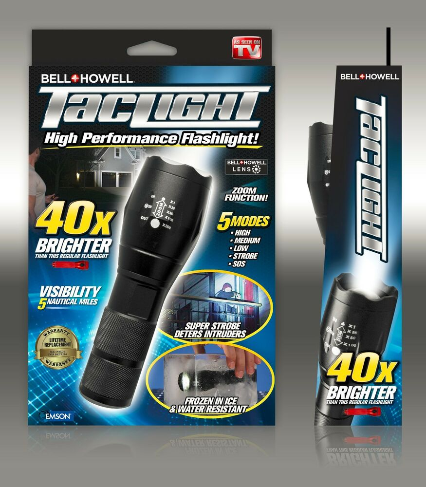 bell howell taclight super high powered tactical flashlight as seen on tv. Black Bedroom Furniture Sets. Home Design Ideas