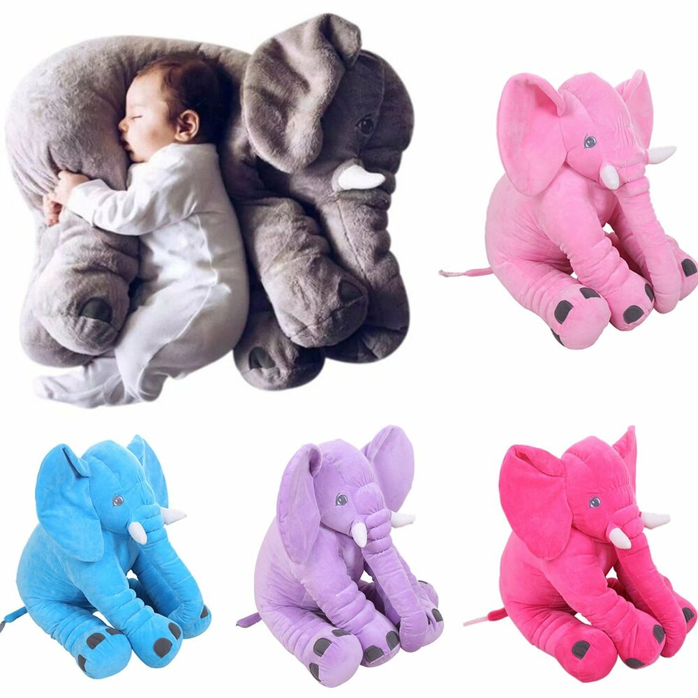 Baby Children Long Nose Elephant Doll Pillow Soft Plush