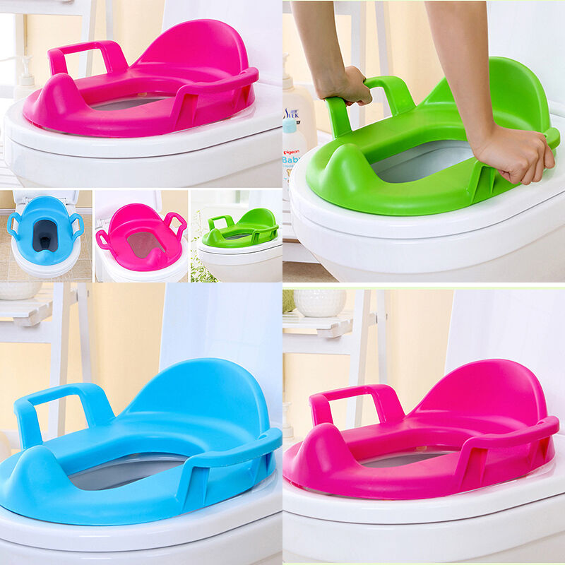Handles Toilet Seat Potty Cushion Baby Toddler Padded Soft
