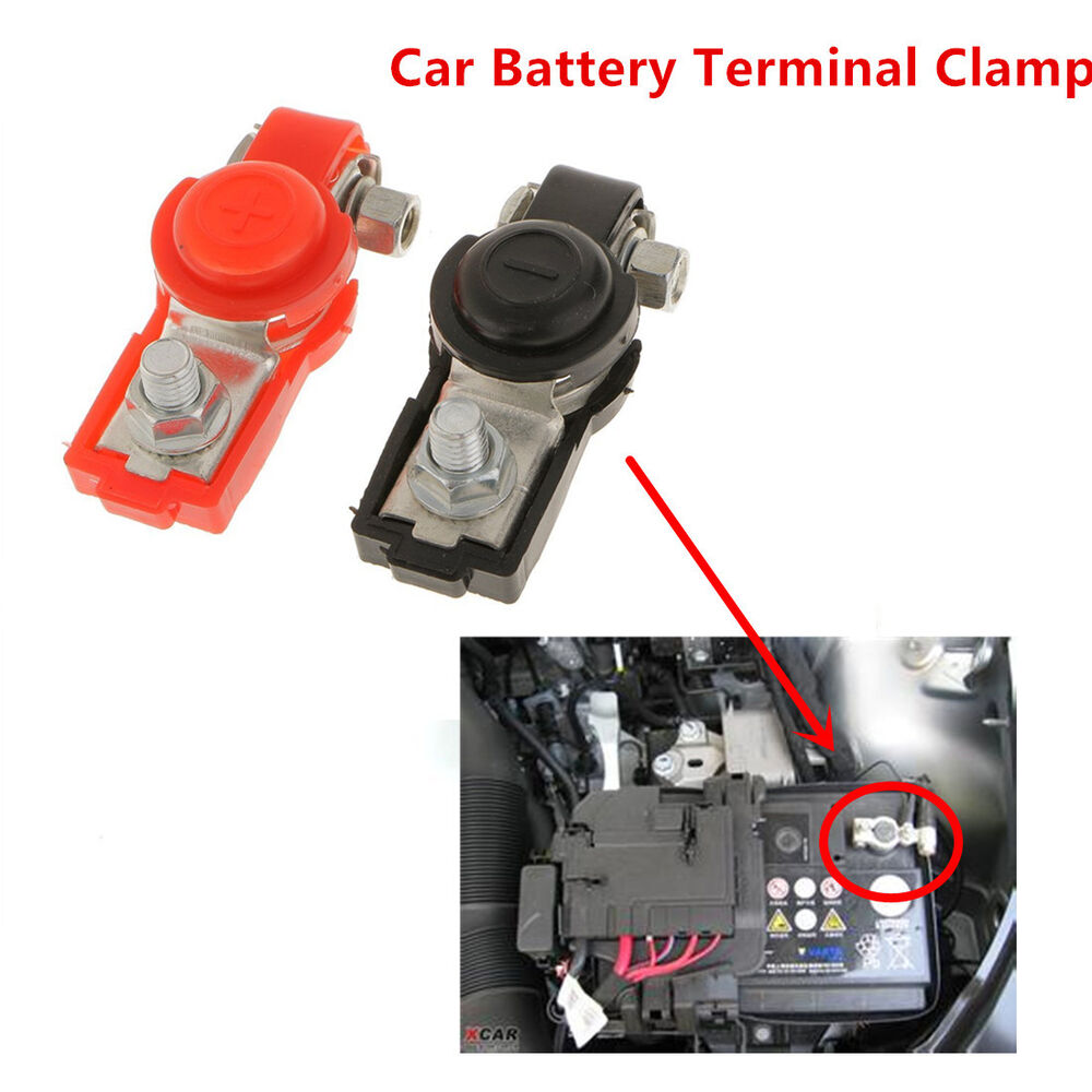 Battery Motor Parts : Universal auto car adjustable battery terminal clamp