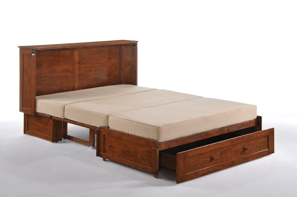Night Amp Day Clover Murphy Cabinet Bed Gel Mattress Cherry