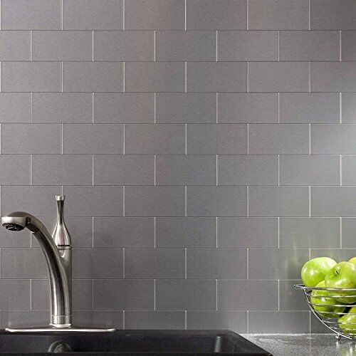 art3d 100 pieces peel and stick backsplash tiles stainless