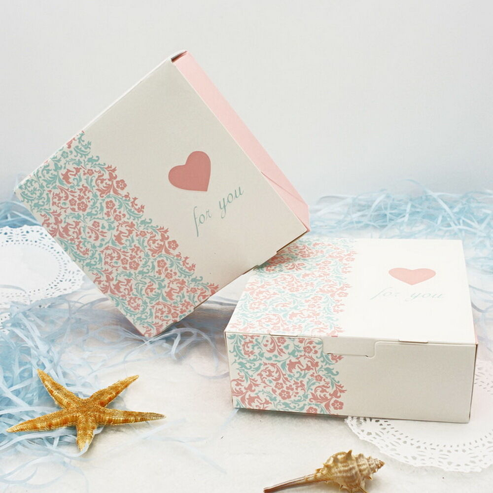 Wedding Gift Box Pattern : ... Box Wedding Party Candy Cake Gift Boxes Color Pattern Carton eBay