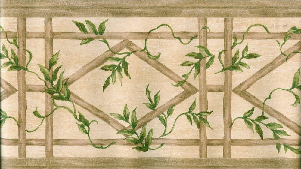 oriental bamboo with ivy wallpaper border ebay