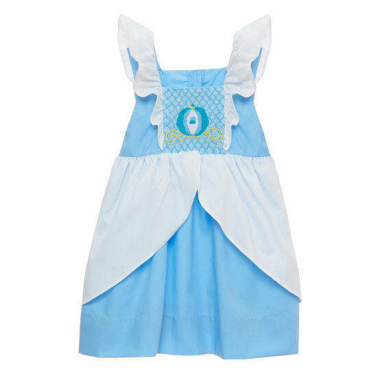 New Nip Disney Baby Girls Halloween Cinderella Costume 6: New Smocked Princess Dress 6m