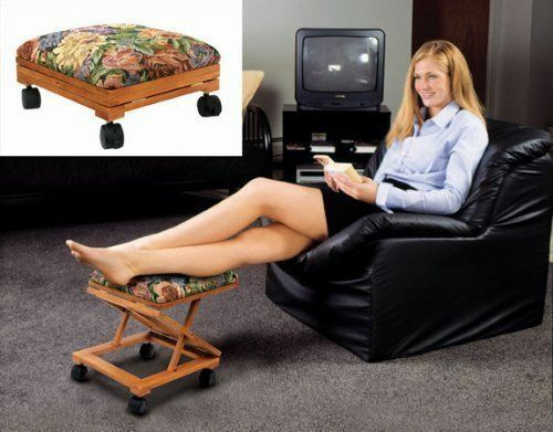 Foot Rest Elevated Foot Stool Footrest Adjustable Folding
