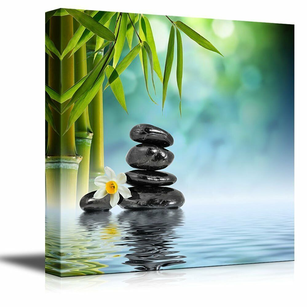 Relaxing Scene Of Stones And