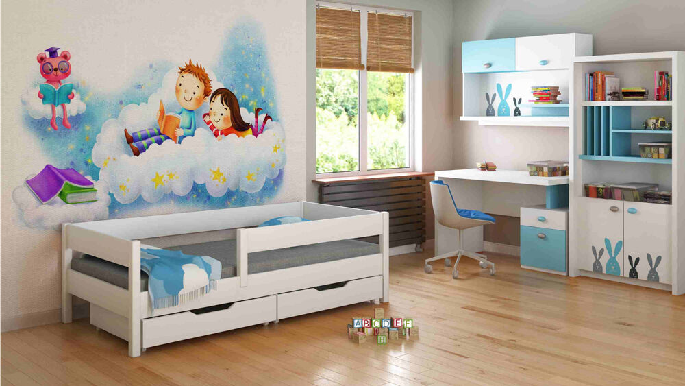 Kids Children Toddler Junior Single Bed 140x70 160x80