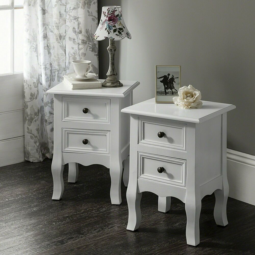 White bedside tables cabinets units nightstand table with for White nightstand table