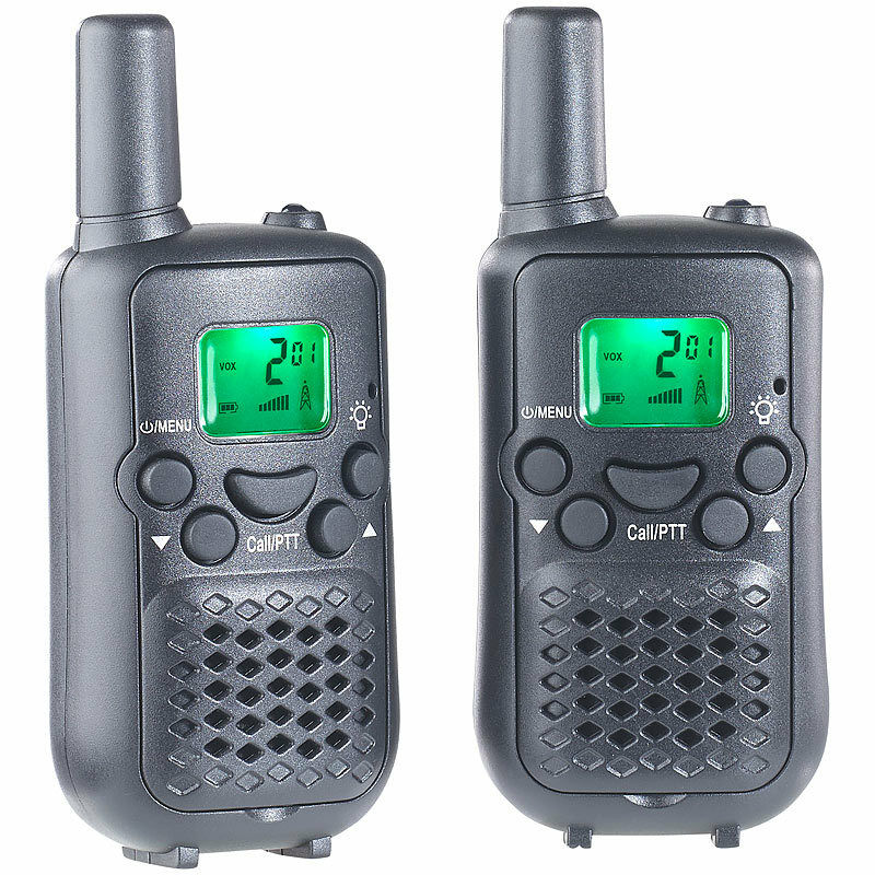 handfunkger t 2er set walkie talkies mit vox funktion und 5 km reichweite ebay. Black Bedroom Furniture Sets. Home Design Ideas