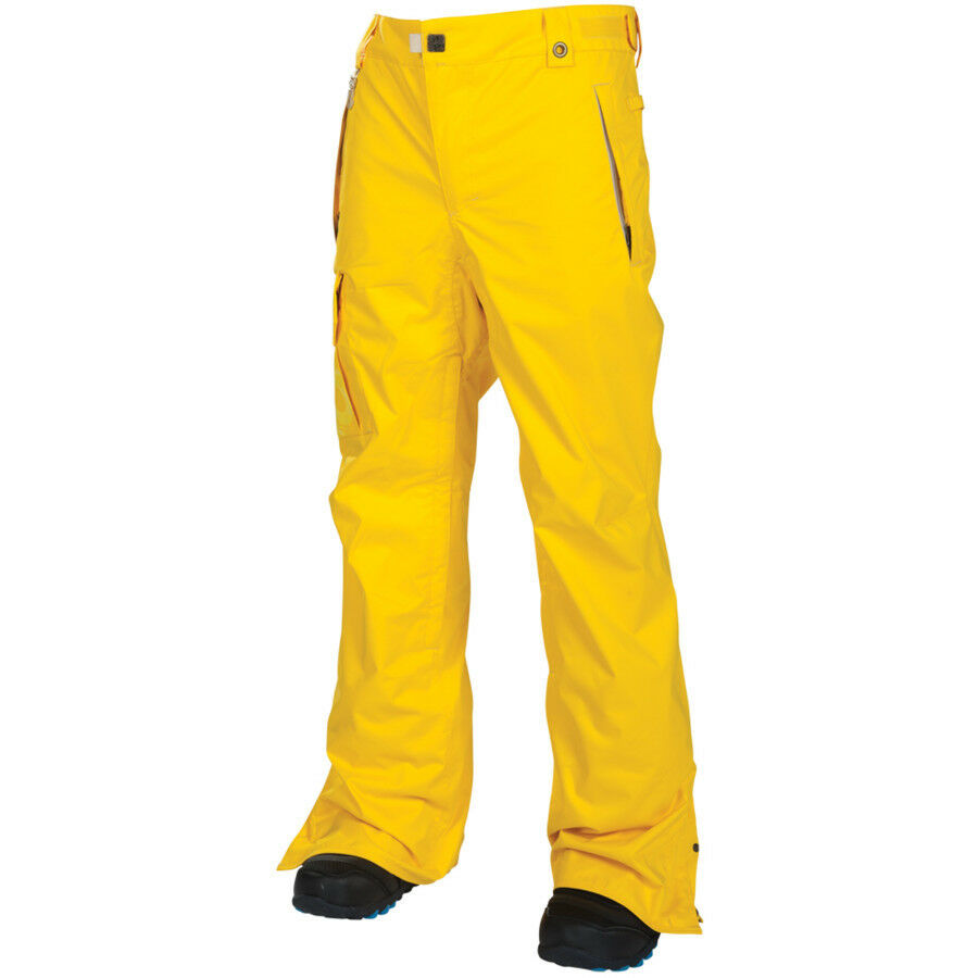 Details About Mens 686 Six Eight Mannual Data Snow Ski Snowboard Pants Yellow Size 2XL
