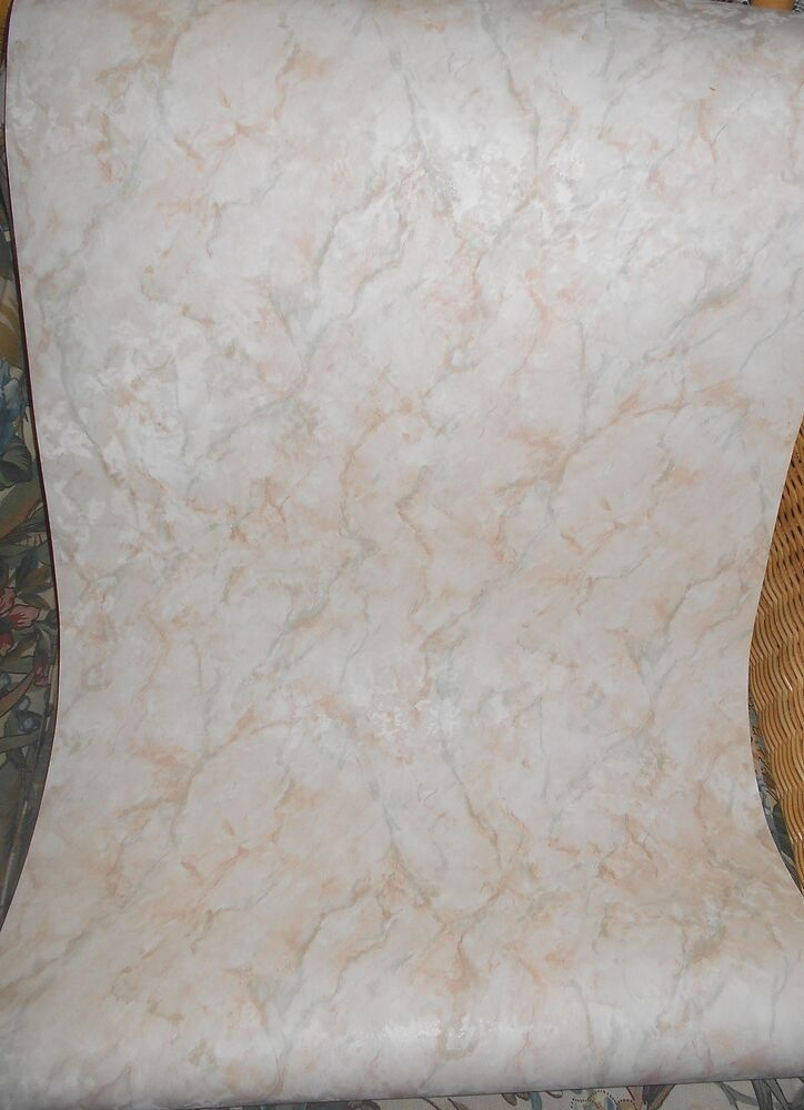 Marble look solid vinyl wallpaper ebay for Solid vinyl wallcovering
