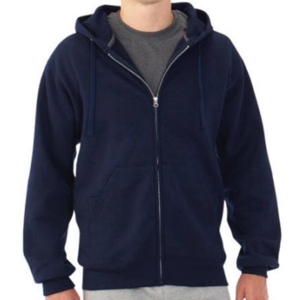 fruit of the loom men 39 s fleece full zip hoodie sweatshirt. Black Bedroom Furniture Sets. Home Design Ideas