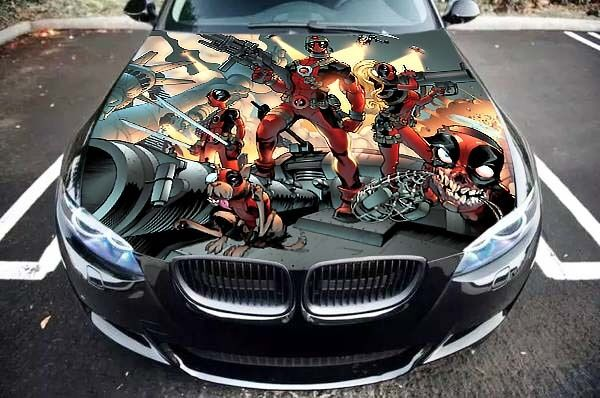 Deadpool Comics Hero Car Hood Bonnet Graphics Vinyl Decal