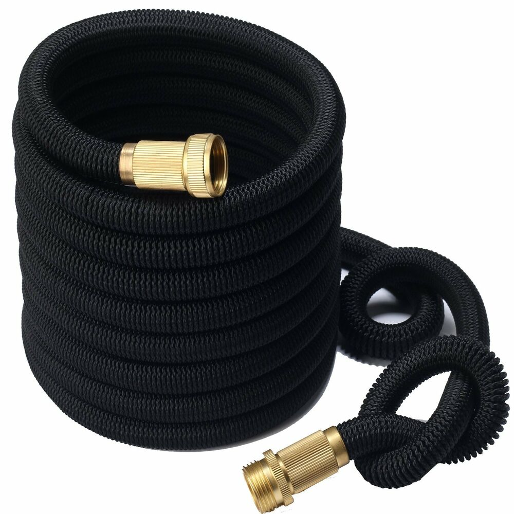 3x stronger deluxe 100 ft expandable flexible garden water hose ebay Expandable garden hose 100 ft