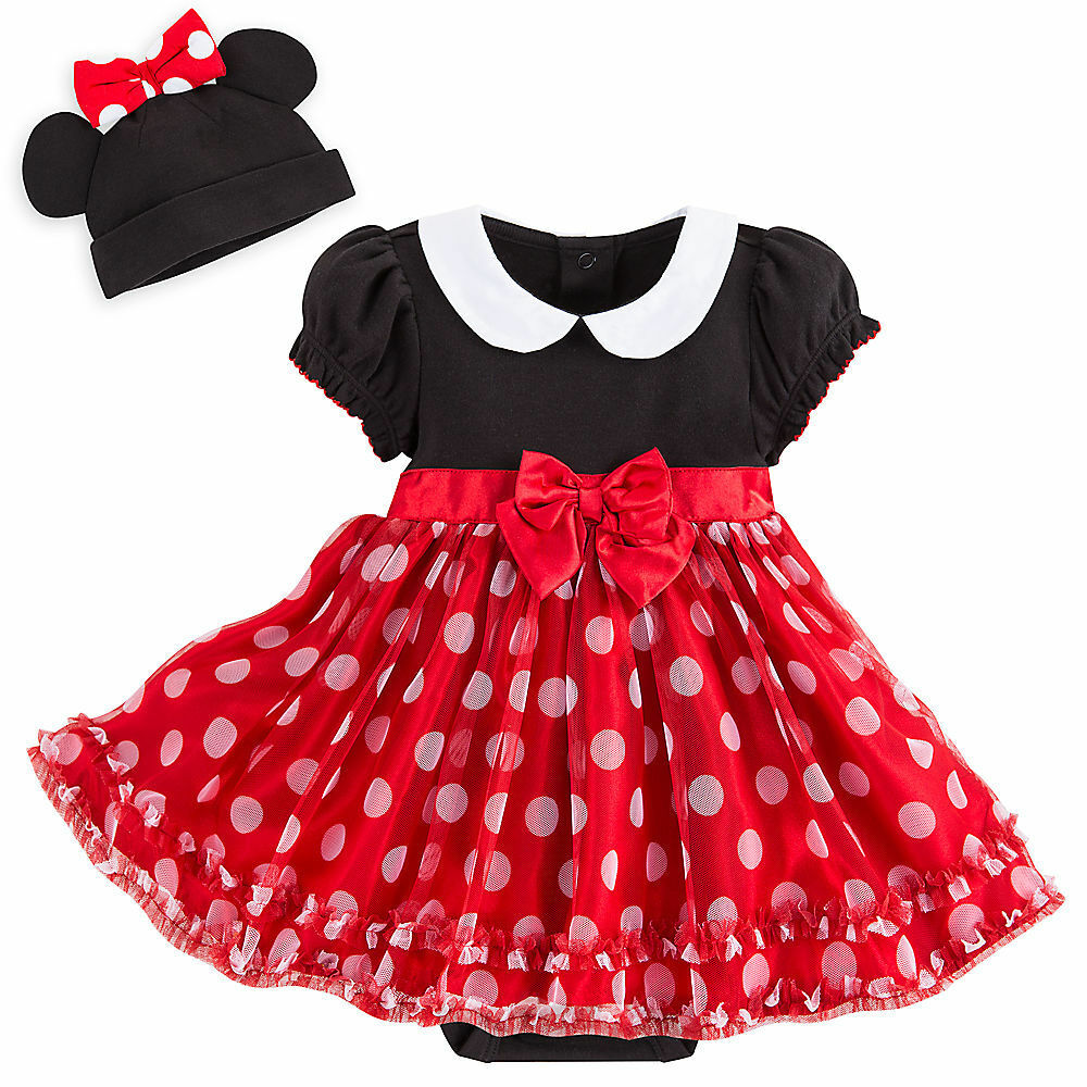 disney store deluxe minnie mouse baby costume headband 3 6 9 12 18 24 months ebay. Black Bedroom Furniture Sets. Home Design Ideas