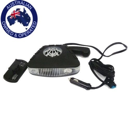 3 IN 1 DELUXE CAR DASH FAN 12V COOLING, HEATER FLASHLIGHT