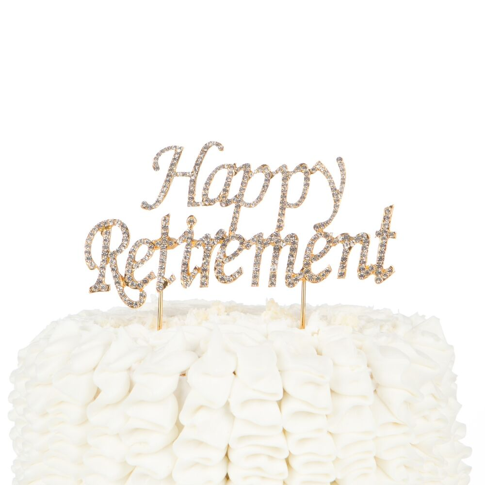 Happy Retirement Cake Topper - Party Supplies and ...