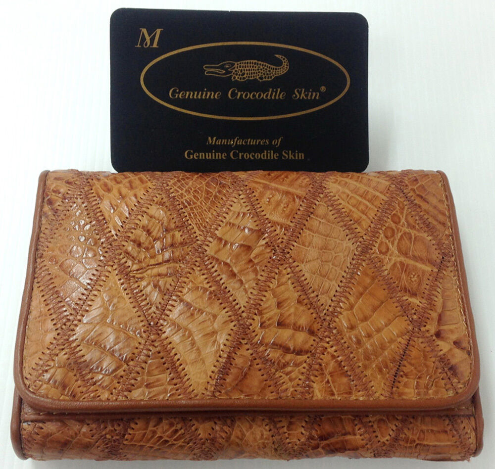 Genuine Real Crocodile Alligator Belly Skin Leather Man