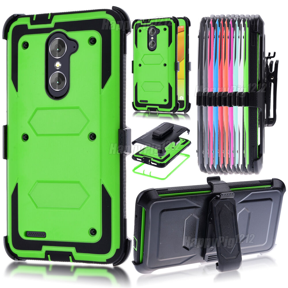 Shockproof Rugged Hybrid Case Stand Cover Belt Clip