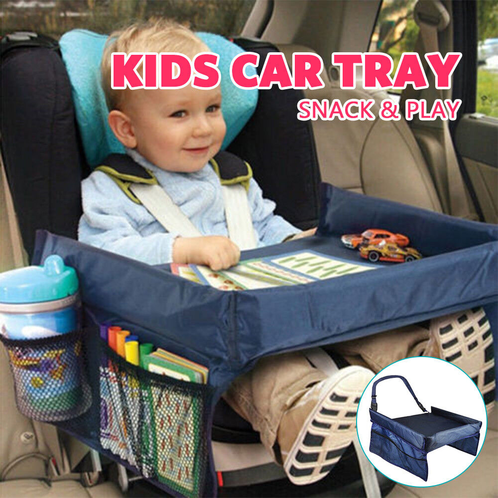 Kids Baby Car Safety Seat Snack Play Travel Tray Drawing Board Table
