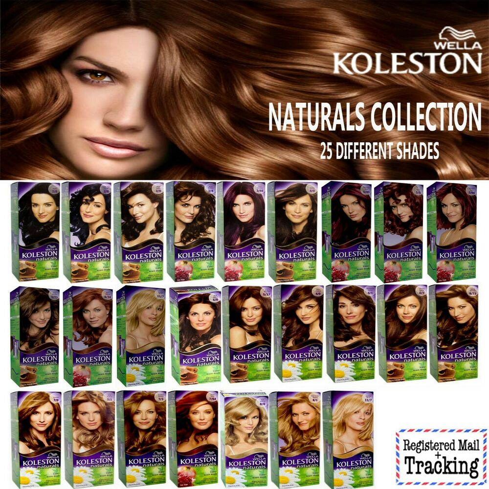 Wella Koleston Naturals Hair Color Kit Collection 25 Different