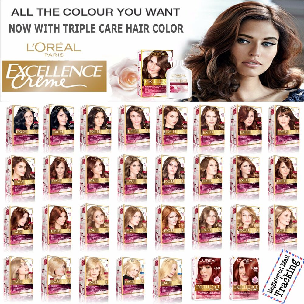 L Oreal Paris Excellence Creme Triple Care Hair Color 31 Different Shades Ebay