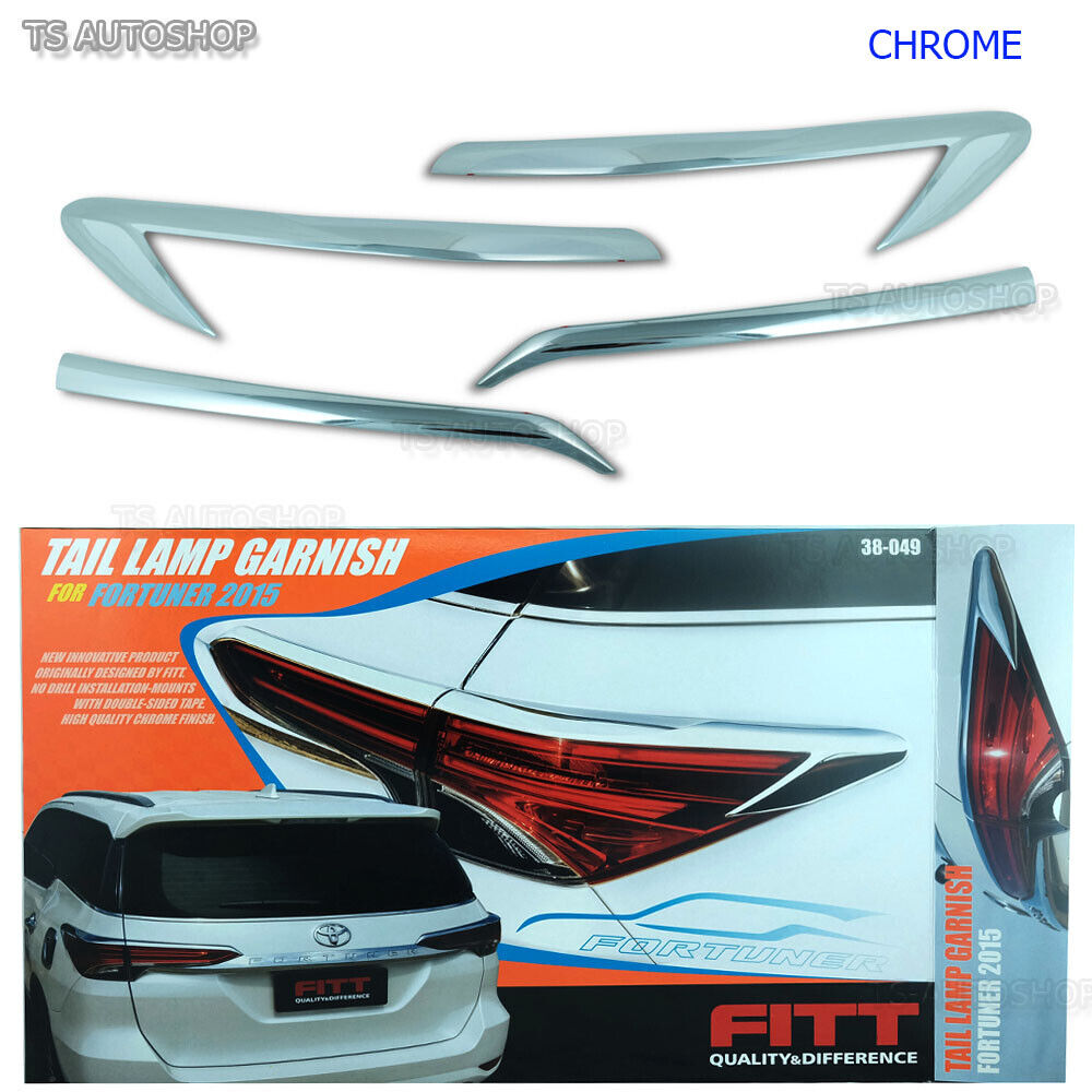 fitt chrome rear tail lamp light cover trim fit toyota. Black Bedroom Furniture Sets. Home Design Ideas