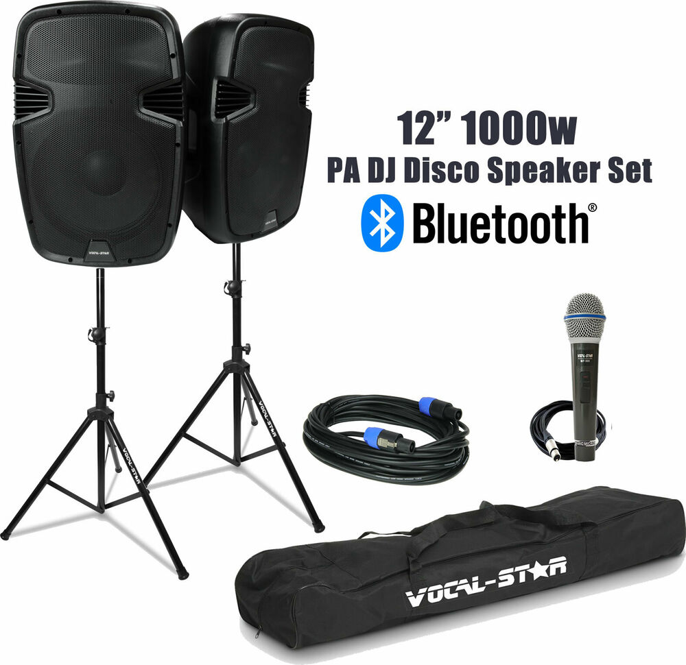portable pa speaker system inc 2 wireless microphones bluetooth mp3 vocal star ebay. Black Bedroom Furniture Sets. Home Design Ideas