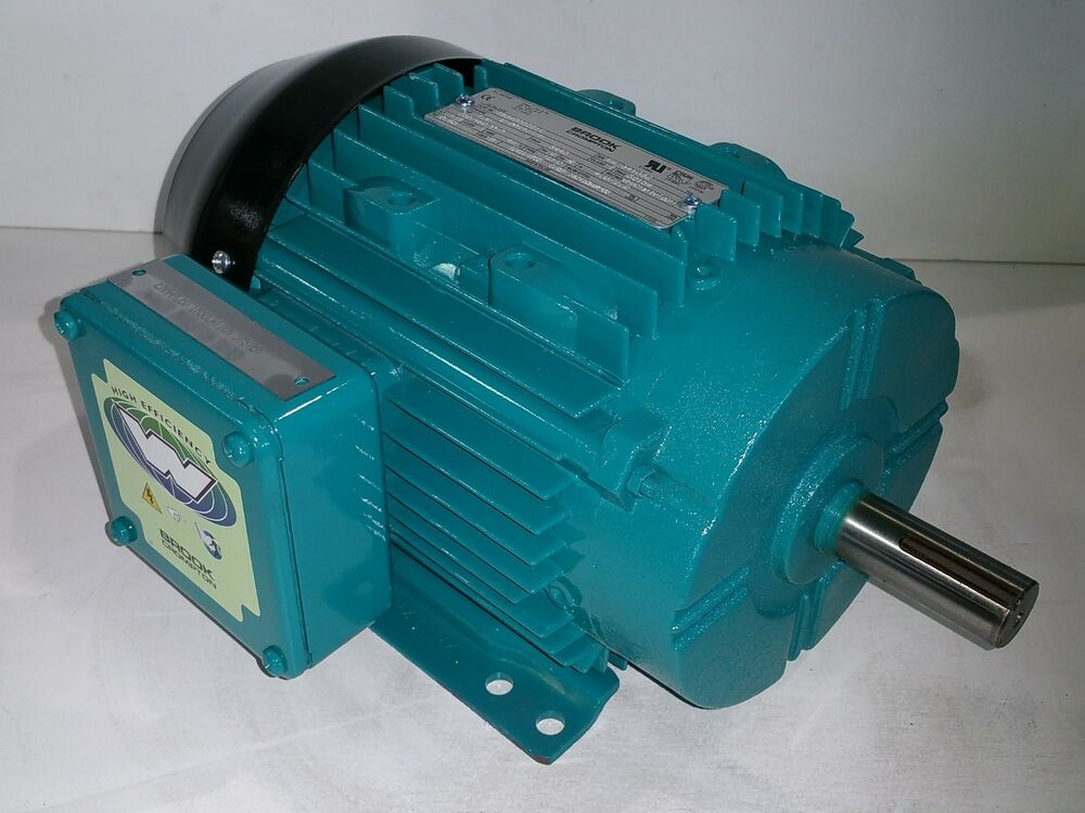Brook crompton 1 5 hp 3600 rpm tefc 230 460 volts 143t 3 for 1 5 hp 3 phase electric motor