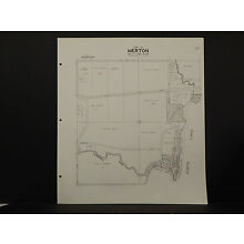 Wisconsin Waukesha County Map 1967 Merton, Stonebank, North Lake R2#73