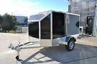 NEW ALUMINUM ENCLOSED BIKE TRAILER LIFT UP LID, RAMP - EXTRA LIGHT