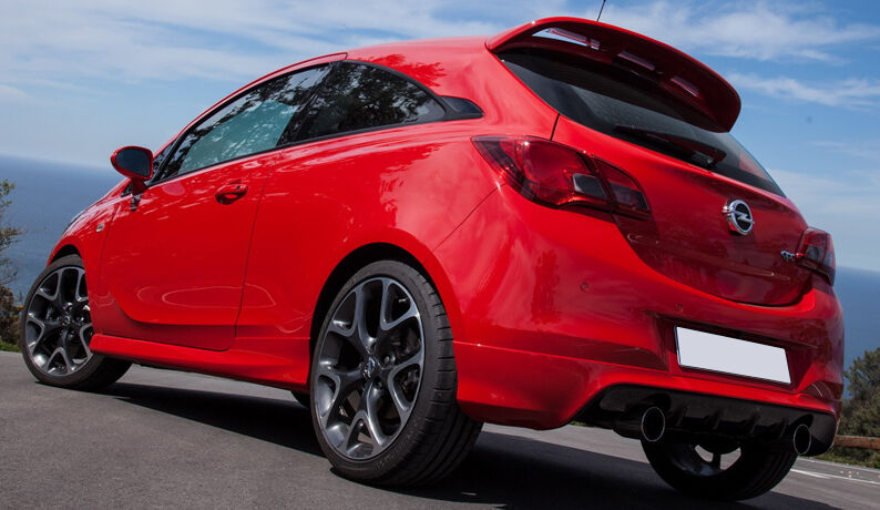 vauxhall corsa e vxr opc look spoiler 3 door model ebay. Black Bedroom Furniture Sets. Home Design Ideas