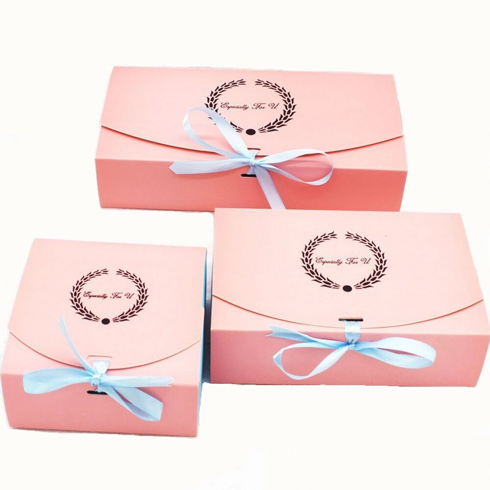 10pcs Colorful Box Wedding Party Candy Cake Gift Boxes Ear