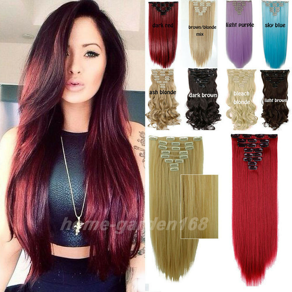 Real Thick Full Head Clip In Hair Extensions Extentions