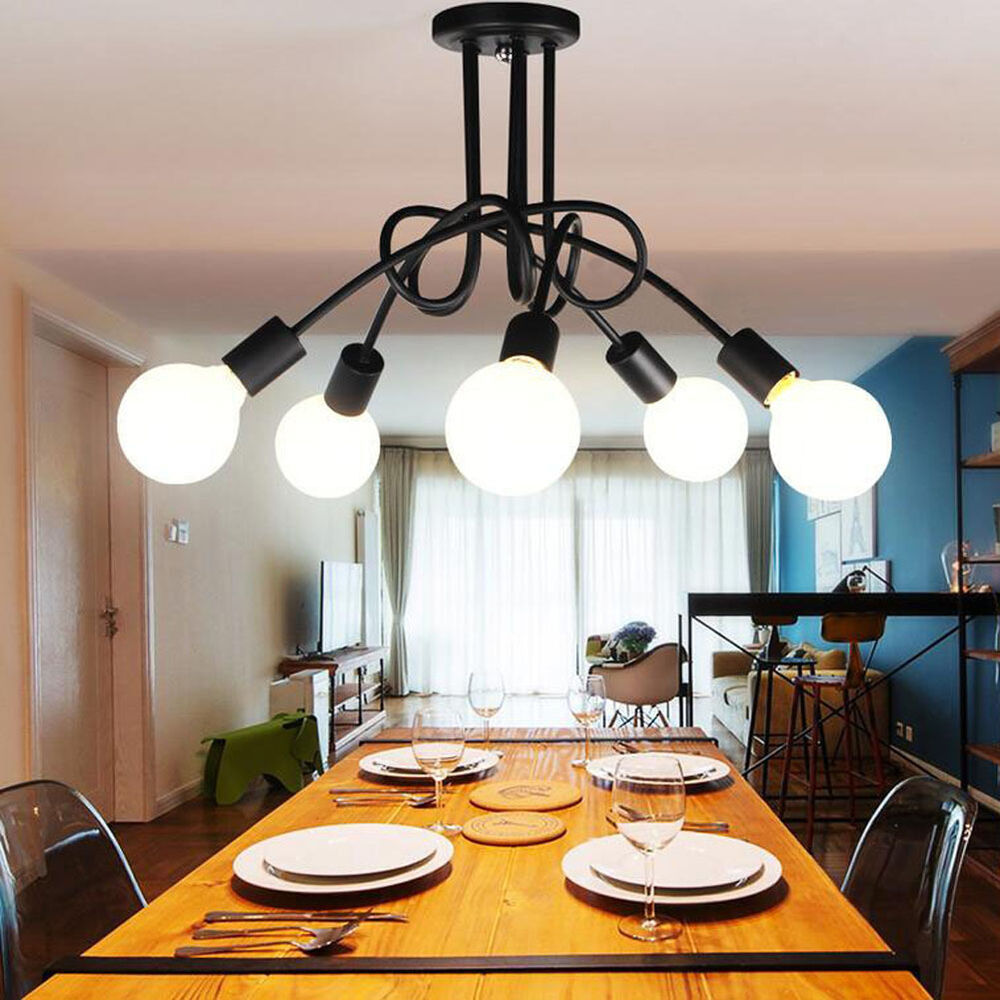 5 heads diy modern pendant light ceiling lamp hanging for Diy led chandelier