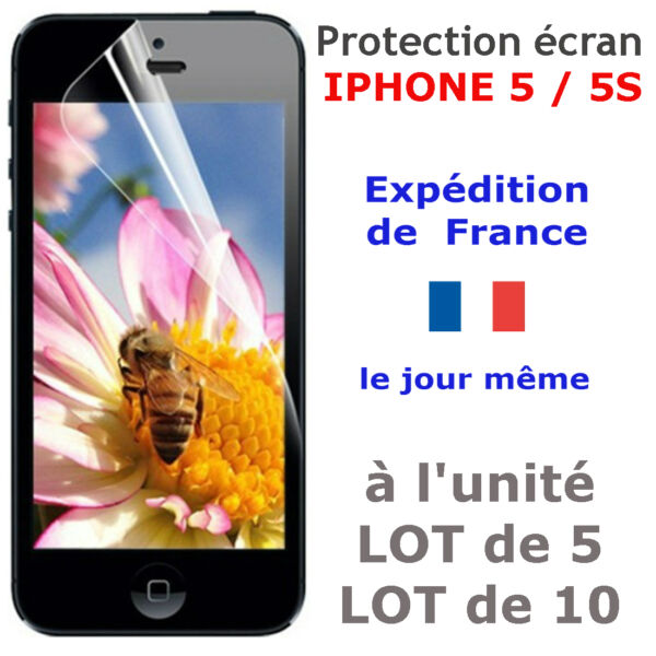 FILM PROTECTION écran IPHONE 5 / 5S / 5C/ SE -LOT-protège vitre avant protecteur