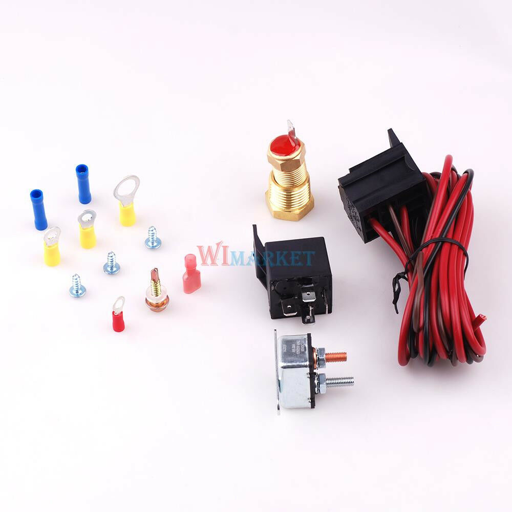185 200 degree electric engine fan thermostat temperature switch relay kit ebay - Four 200 degres thermostat ...